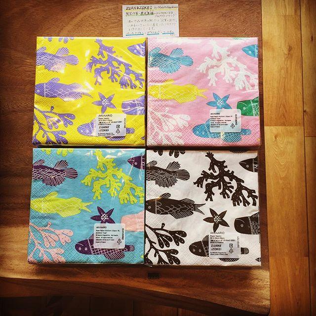 これからの季節、明るい気分になるポップなペーパーナプキンでピクニックやホームパーティーもいいですね!陶芸作家・鹿児島睦さんの「図案と造形」に着目したZUAN&ZOKEIのプロダクツはこちらのペーパーナプキンの他、ポストカード、コースターがございます。