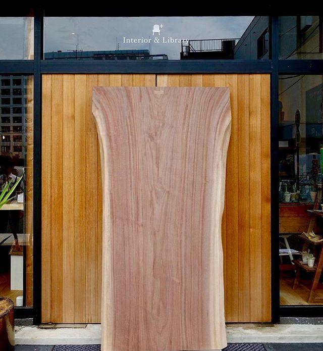 根元に向かい放射した杢目が美しい希少ブラックウォールナットの一枚板。W1800×D1100mm〜760mmのダイニングテーブルに丁度良いサイズです! 新入荷ハナレ展示販売中