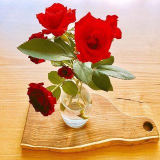 薔薇農家さん直送の薔薇、アルタナカフェにて1本100yen(+tax)にて販売しております。 本日も10時から17時までのオープンです。