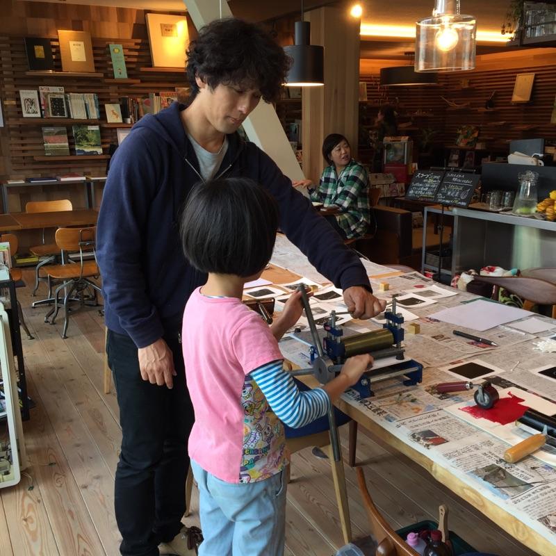 持塚さん版画ワークショップ開催しました!