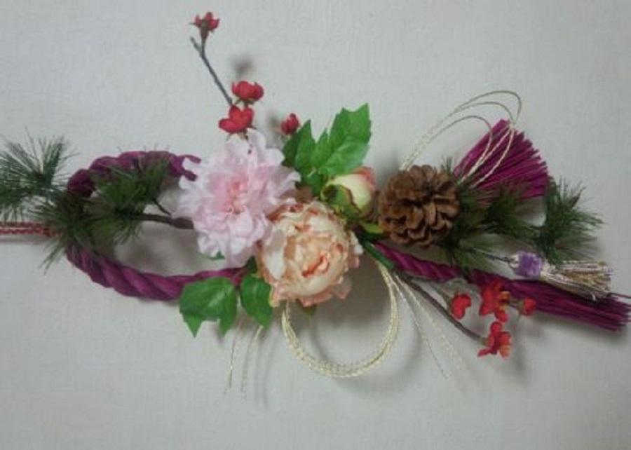「花のアート プリザーブドフラワー教室 ~お花のしめ縄飾り~」