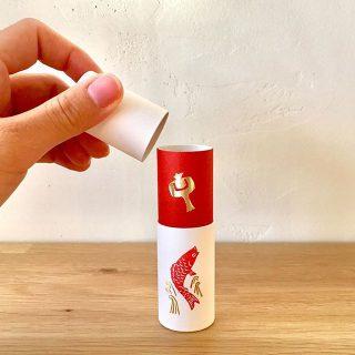 """◆大成紙器製作所 POCHI-PON color:モノホギ 3個入¥1,200+tax . 筒型のぽち袋""""POCHI-PON"""" 新しい柄を入荷しました。 めでたいモチーフのイラストがお祝"""