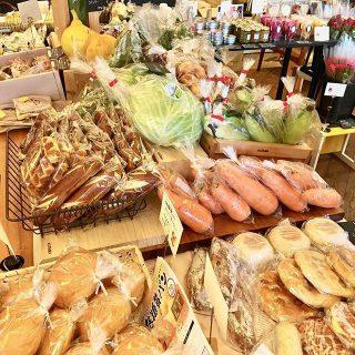 テーブルマーケットの野菜やパン、お花達 いよいよ明後日2