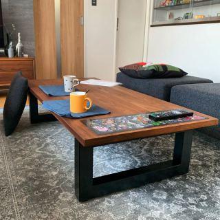 ︎ MASTERWALウォールナット 無垢材のWILDWOODリビングテーブルで愉しむお家時間️ ・ ・ 明日4/18(土)11:00〜17:00オープンいたします。